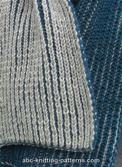 brioche knitting 2 color abc knitting patterns two color brioche scarf