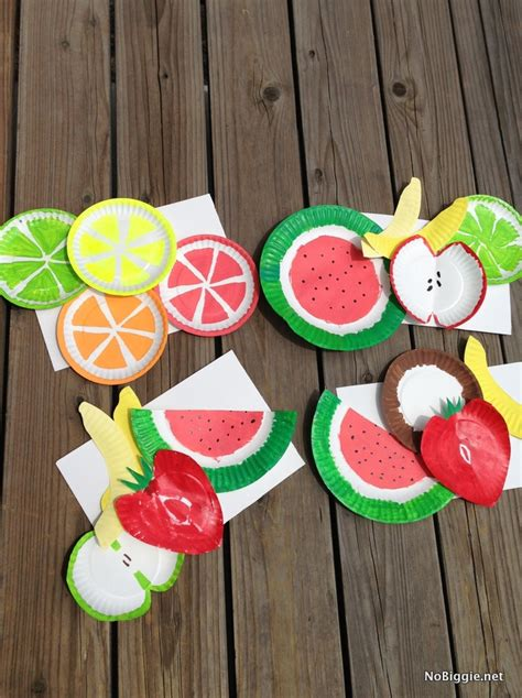 summer food crafts for the summer kid craft paper plate fruits craft