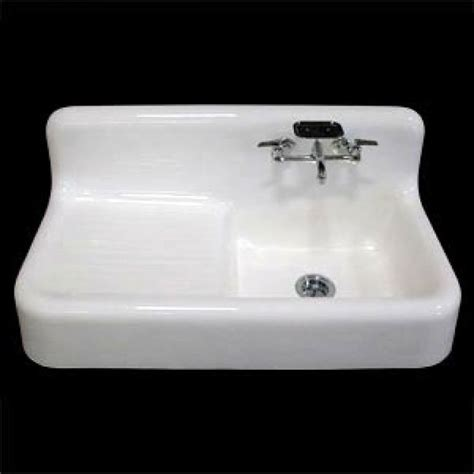 cast iron kitchen sink with drainboard 42 quot cast iron wall hung kitchen sink left side drain