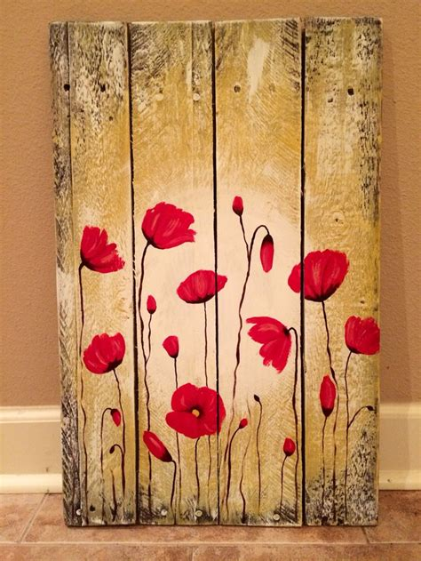 acrylic paint on wood ideas 25 best ideas about painted wood pallets on