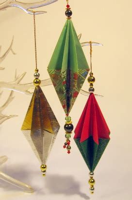how to make origami ornaments origami ornaments santa claus and