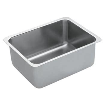 moen undermount kitchen sinks moen g18190 1800 series 18 single bowl undermount