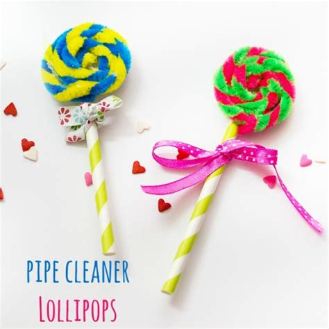 lollipop crafts for pipe cleaner lollipops make and takes
