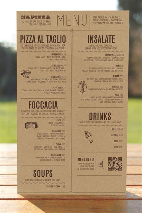 25 best ideas about restaurant menu design on pinterest