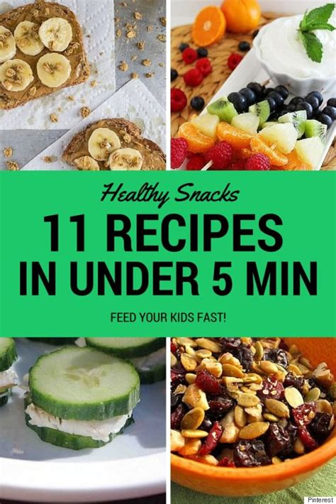healthy snacks for healthy snacks for you can make in 5 minutes