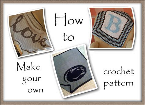 how to make your own crochet graph pattern tutorial a handmade year