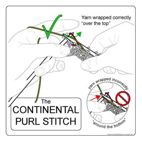 how to knit and purl in the same row techknitting the continental purl stitch