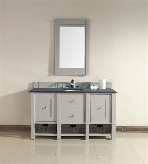 bathroom vanity 60 sink 60 inch single sink bathroom vanity in dove gray