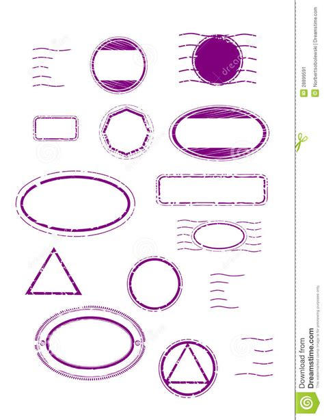 rubber st template free blank rubber sts set stock image image 28899591