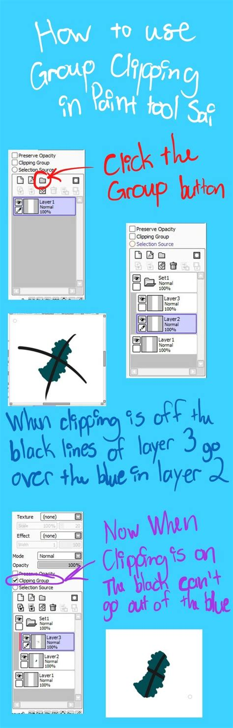 Paint Tool Sai Clipping By Diagonaleast On Deviantart