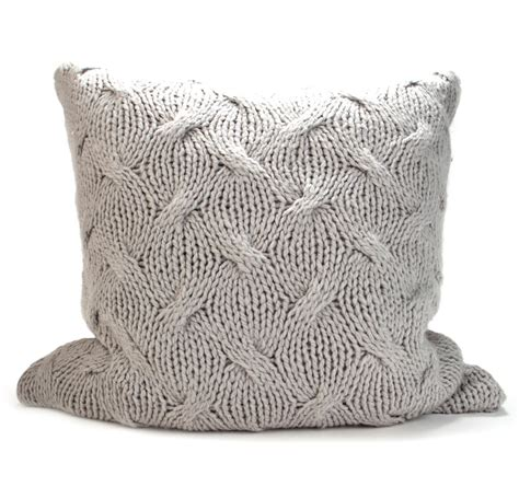 knitted pillows cable knit pillow weidner hasou co