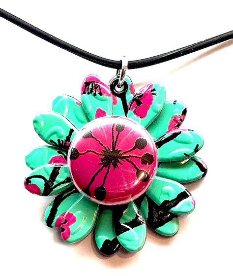 pop it jewelry pop can snap jewelry green tea pendant with snap