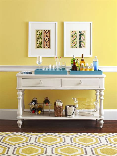 how to use a sofa table decorating ideas one table done four ways hgtv