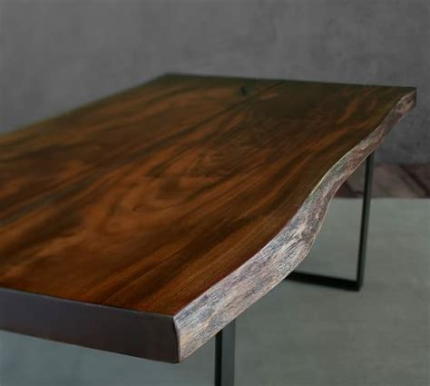 live edge coffee table waller live edge coffee table pottery barn
