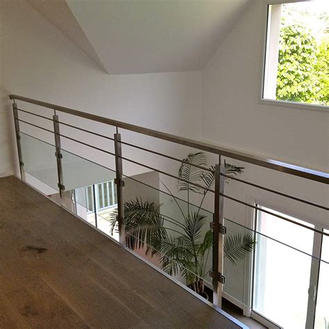 balustrade int 233 rieure verre et barres pose anglaise