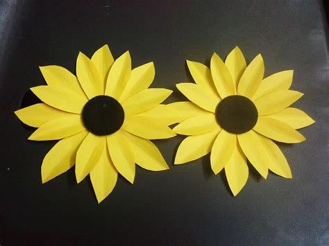 paper cutting flowers crafts how to make a paper flower tutorial sunflower paper
