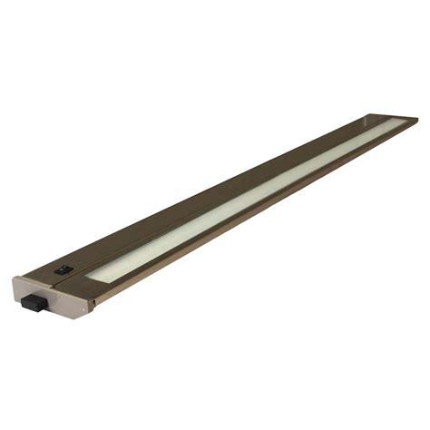 American Fluorescent Cabinet Lighting by American Lighting 43005 Brushed Steel 32 Quot 24 Watt 3000k