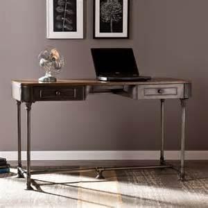 industrial computer desk edison industrial metal computer writing desk home office