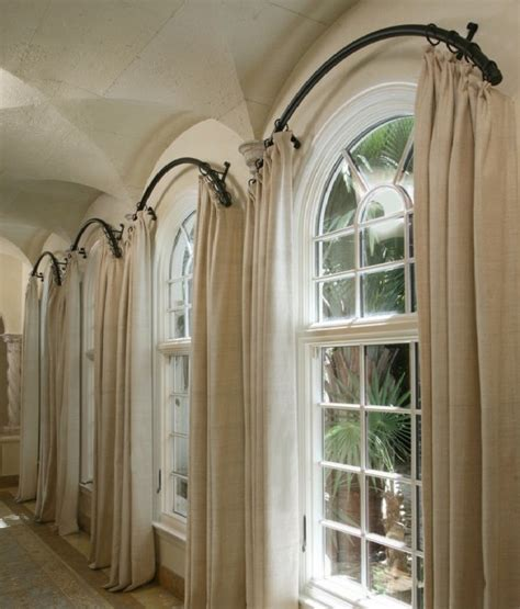 Curved Curtain Rod For Bow Window arched window curtain rod arch window curtains to choose