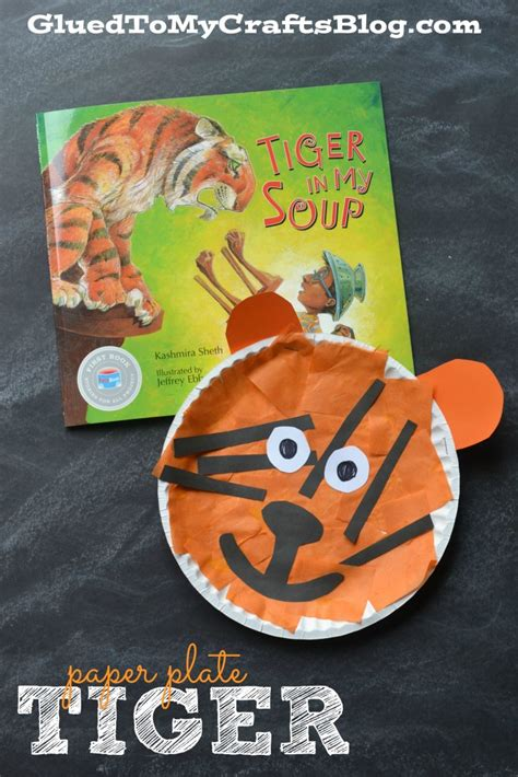 tiger paper plate craft paper plate tiger kid craft glued to my crafts