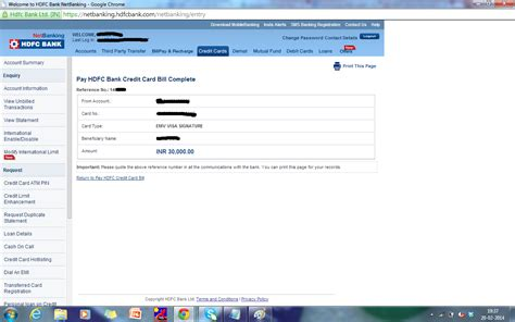 make payment of hdfc credit card hdfc bank credit card bill payment