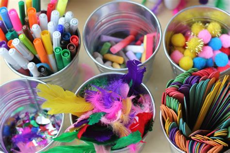 craft materials for creating invitations to play the imagination tree