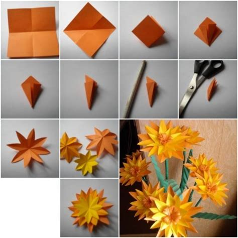 paper craft flowers make how to make paper marigold flower step by step diy