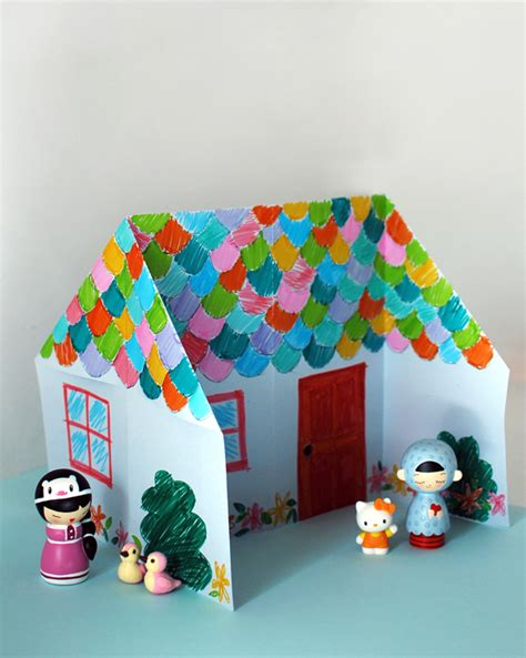 how to make origami house 3d make an adorable origami doll house