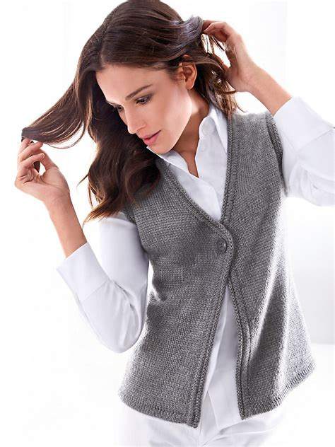 knitted waistcoat hahn knitted waistcoat light grey