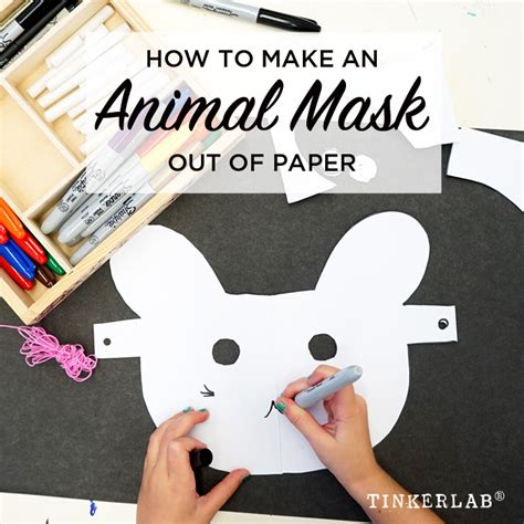 out of paper prompt how to make an animal mask out of paper