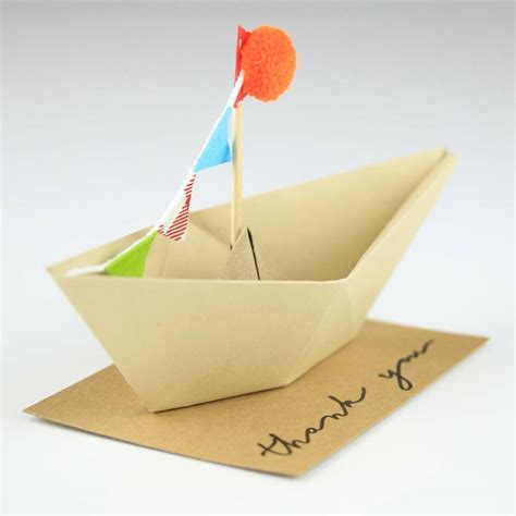 thank you origami thank you origami boat greeting decoration by nest