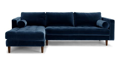 sectional or sofa sven cascadia blue left sectional sofa sectionals