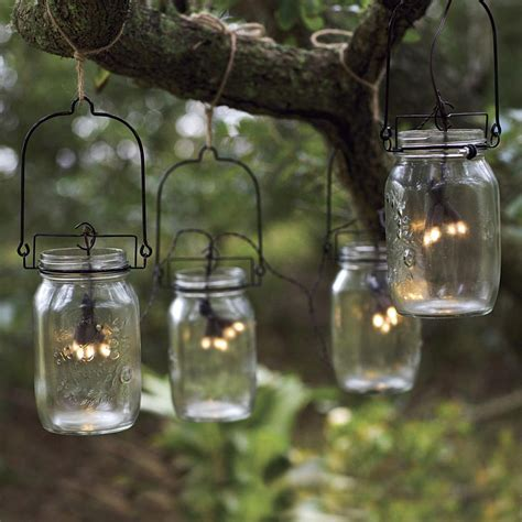 jar patio lights glass jar solar string lights the green