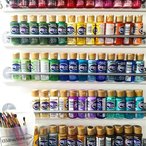 acrylic paint storage 26 craft room ideas every crafter would new craft works