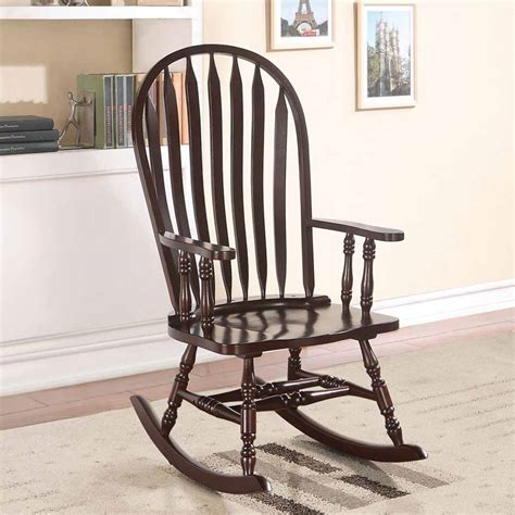 living room rocking chair kloris collection accent living room wood rocking chair in
