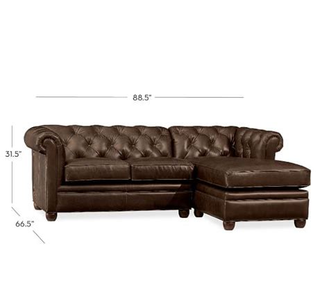 sectional leather sofas with chaise chesterfield leather sofa with chaise sectional pottery barn