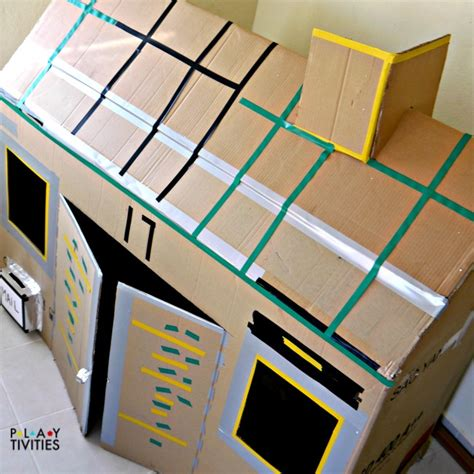 how to make a card board box how to build the most simple cardboard house playtivities
