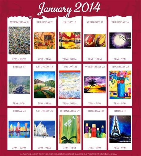 paint with a twist calendar 39 best images about painting with a twist ideas on