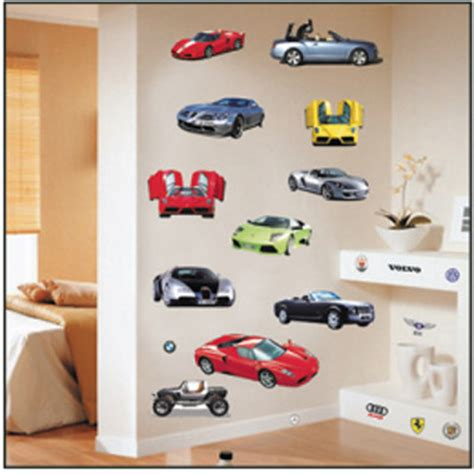 cheap wall stickers for bedrooms cheap quality pvc wall stickers car model removable
