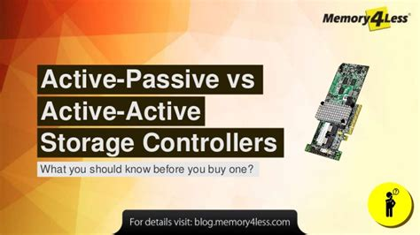 active passive vs active active storage controllers what