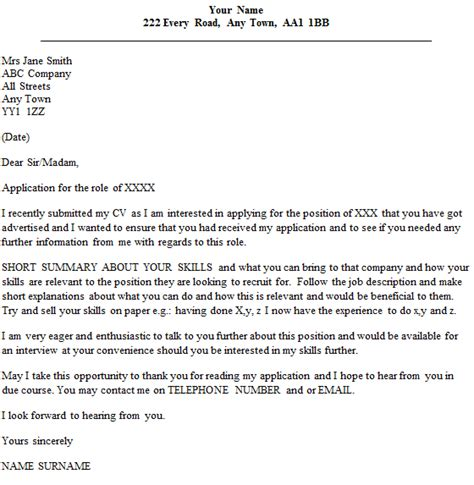 follow up letter example after submitting a cv cover
