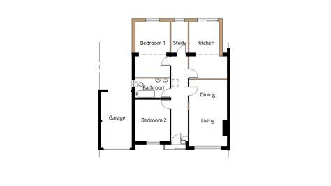 kitchen extension floor plans semi detached bungalow extension ideas studio design