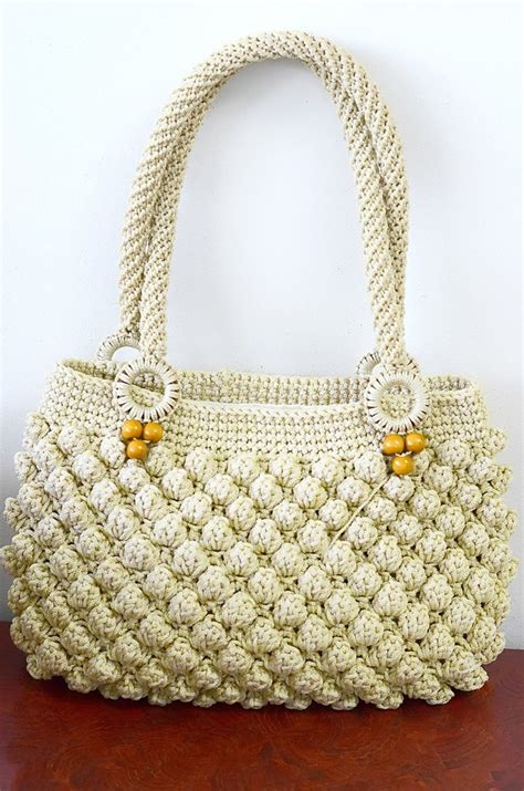 crochet bags with shoulder bags crochet bag popcorn stitch a unique