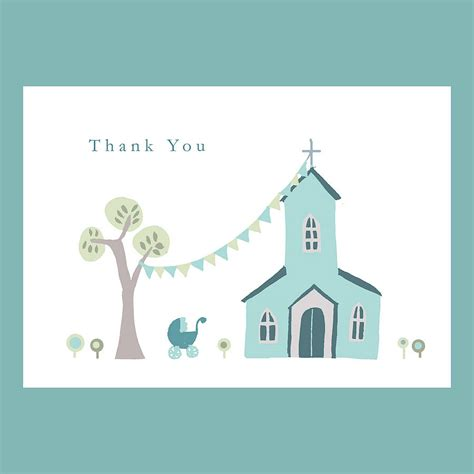 thank you card personalised christening thank you card by molly moo