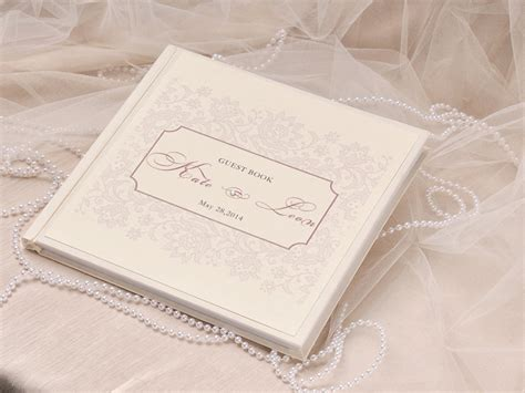 guest book picture shabby chic wedding guest book idea modwedding