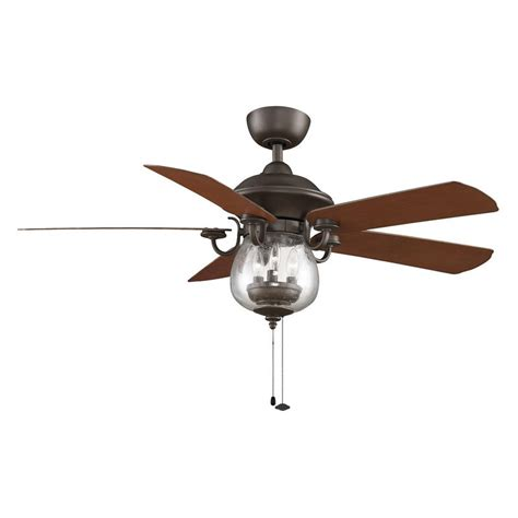 ceiling fans with up and lighting fanimation crestford 52 in outdoor ceiling fan with light