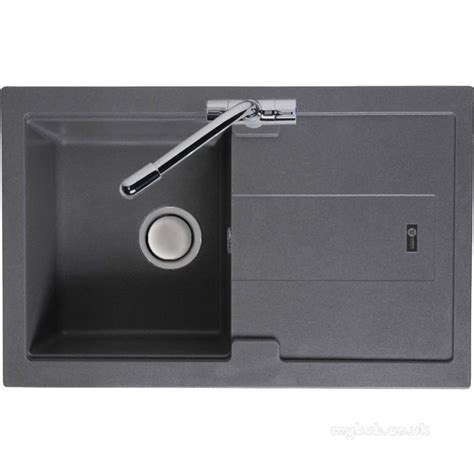 compact kitchen sinks grey bali kitchen sink reversible with drainer and