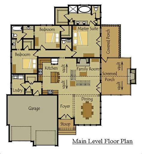 one story cottage style floor plan for the home