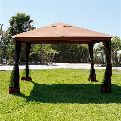patio gazebo canopy 10 x 12 patio gazebo canopy with mosquito netting