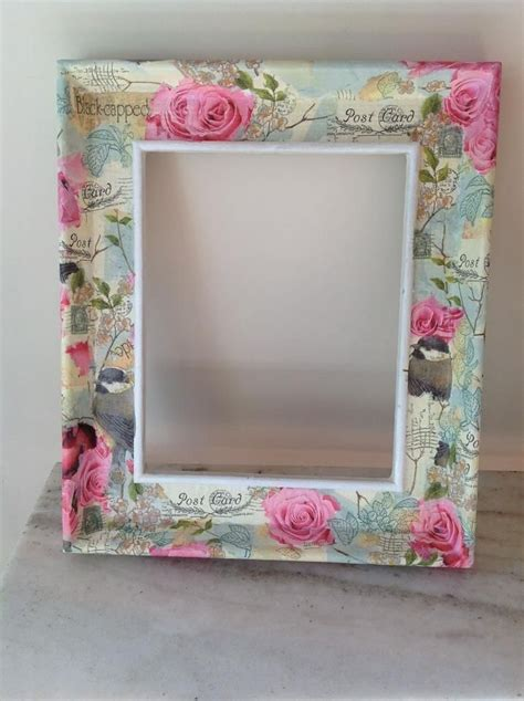 decoupage picture frame ideas shabby decoupage frame https www etsy listing